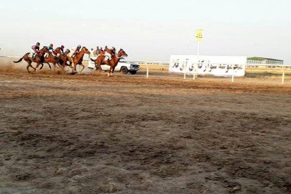 هفته نخست کورس اسبدوانی پاییزه آق قلا برگزار شد