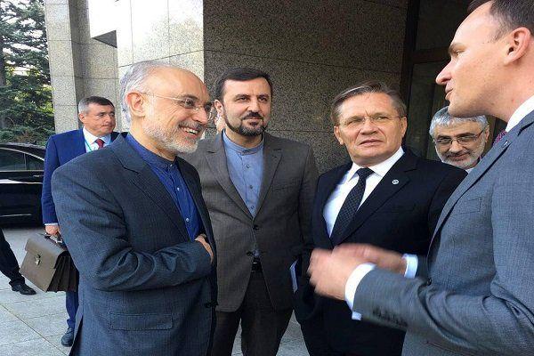 رئیس سازمان انرژی اتمی با همتای روس خود دیدار کرد