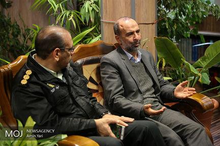 بازدید سردار احمد نوریان از خبرگزاری موج