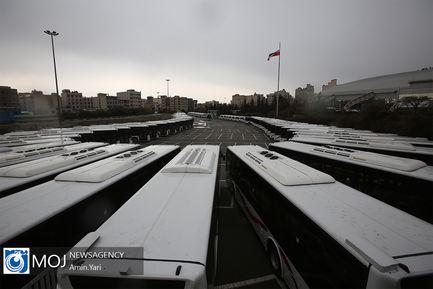 تحویل اتوبوس و مینیبوس به ناوگان حمل و نقل عمومی تهران