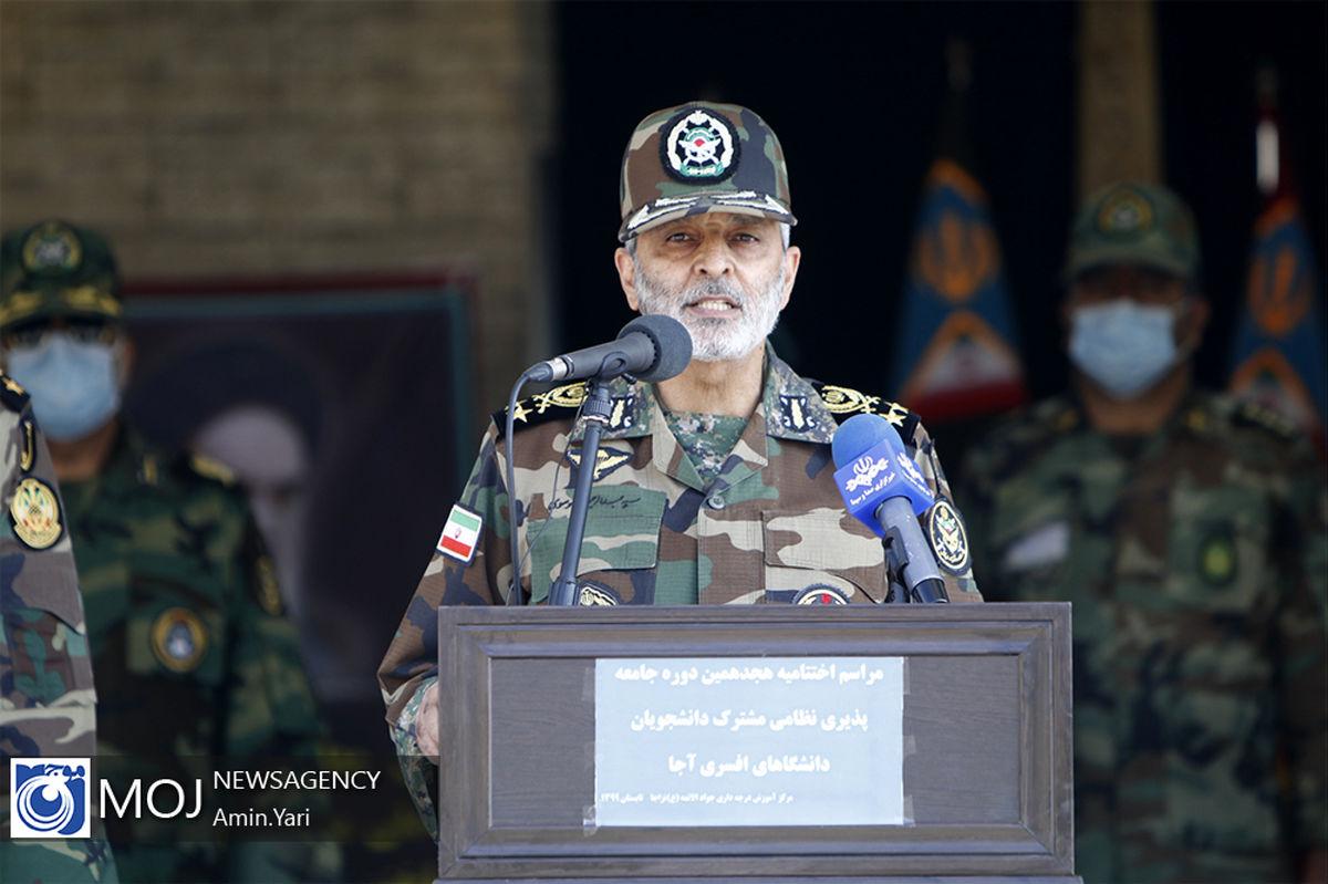 فرمانده کل ارتش از کارکنان و خانوادههای ناوگروه هفتاد و پنجم نیروی دریایی ارتش قدردانی کرد