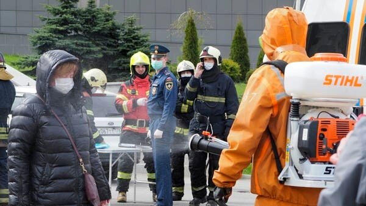 حریق در بیمارستان موقت بیماران مبتلا به کرونا در روسیه