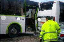 13 مجروح در تصادف اتوبوس های شرکت واحد مشهد
