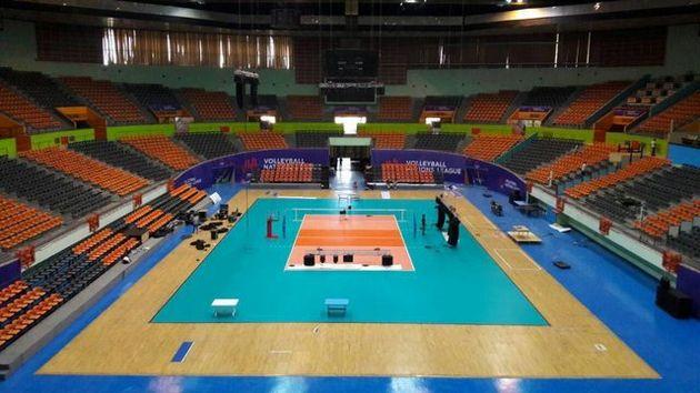 سالن ۱۲ هزار نفری آزادی آماده میزبانی از لیگ ملت های والیبال شد