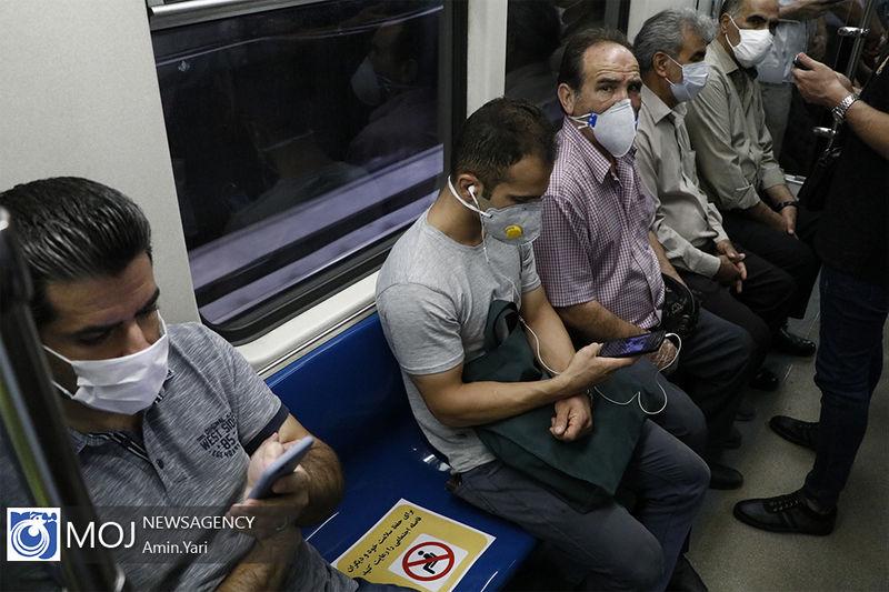 ورود شهروندان بدون ماسک به متروی تهران ممنوع است