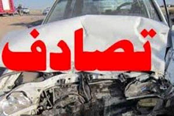 تصادف اتوبوس اسکانیا با سواری پراید در محور سپیددشت اصفهان
