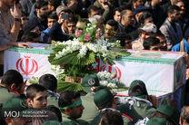 """پیکر شهید مدافع وطن """"عباس کوهی"""" در نایین تشییع شد"""