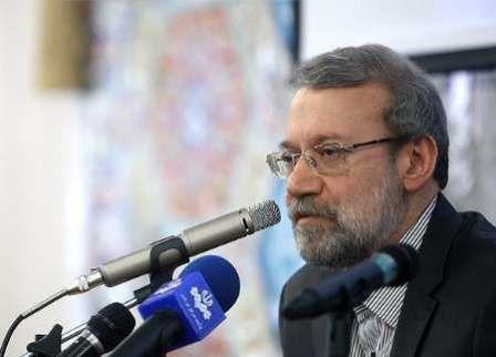 لاریجانی در مراسم گرامیداشت شهدای مدافع حرم سپاه حفاظت سخنرانی میکند