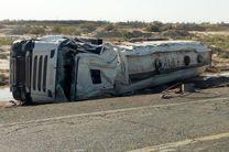 واژگونی ۳ دستگاه تانکر در محور بندرلنگه- پارسیان/سرنشینان نجات یافتند