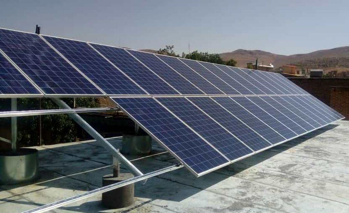 راه اندازی نیروگاه خورشیدی در امامزاده میرزین العابدین ورزنه