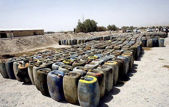 کشف ۷۱ هزار لیتر سوخت قاچاق در بندرخمیر
