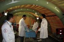 بازدید رئیس اداره بهداشت و درمان نزاجا از بیمارستان صحرایی ارتش در مرز چذابه