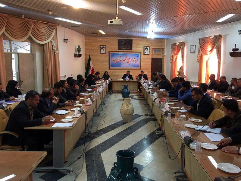 نشست مشورتی دهیاران شهرستان بهار