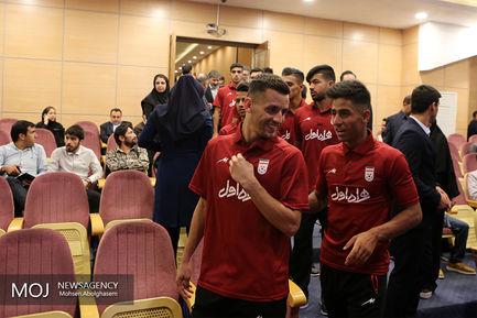 بدرقه تیم ملی فوتبال امید به بازی های آسیایی جاکارتا