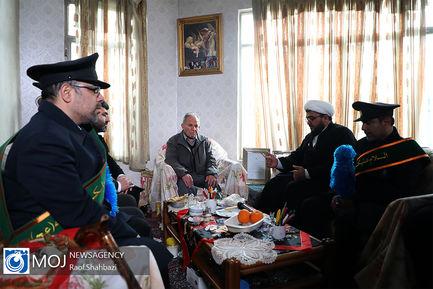 دیدار خادمان مسجد جمکران با خانواده شهدای مسیحی