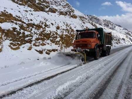 استقرار  42 اکیپ راهداری در 25 راهدارخانه استان/ 91 کیلومتر برف روبی توسط راهداران استان