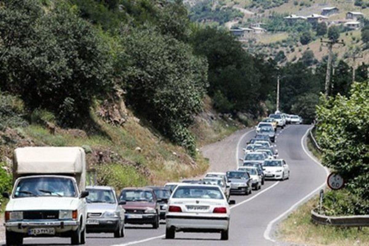 افزایش تردد خودروها در جاده های استان کردستان