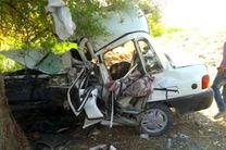 یک کشته بر اثر برخورد خودرو با درخت در مبارکه