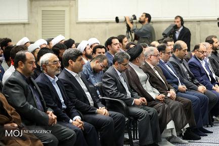دیدار جمعی از استعدادهای برتر با مقام معظم رهبری