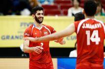 عبادی پور امتیاز آورترین بازیکن دیدار والیبال ایران با آمریکا