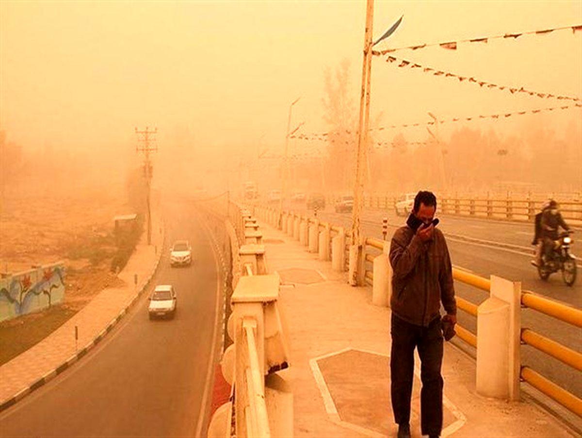 احتمال افزایش طوفان و گردو خاک و شن در جاده های جنوب کرمان