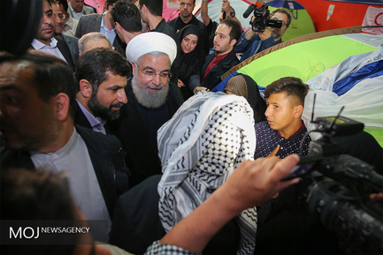 سفر رییس جمهوری به مناطق سیل زده لرستان و خوزستان