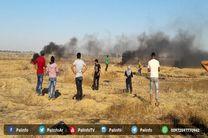 نظامیان صهیونیست معترضان فلسطینی را هدف حمله قرار دادند