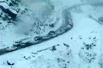 بارش مجدد برف در محور هراز/ حذف ترددهای غیرضرور
