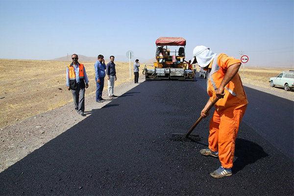 اتمام عملیات روکش آسفالت گرم راه روستایی بهمنی