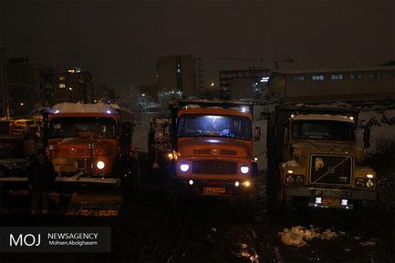 عملیات زمستانی شهرداری تهران