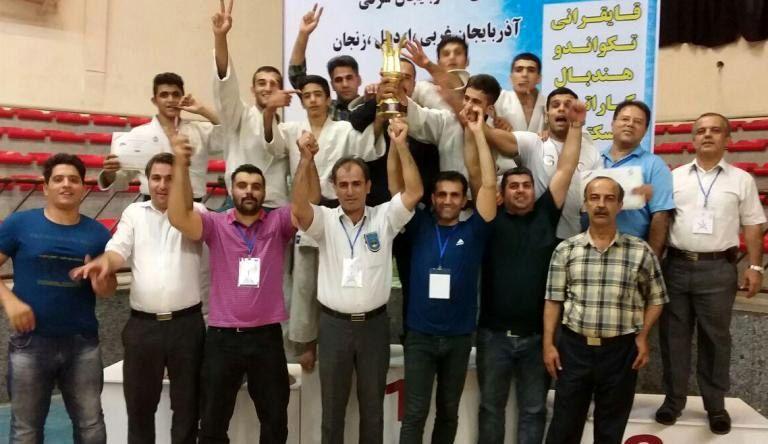 کردستان بر سکوی قهرمانی رقابتهای جودوی شمالغرب ایستاد
