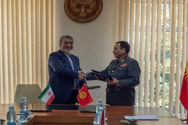 امضا موافقتنامه همکاری انتظامی و امنیتی بین ایران و قرقیزستان