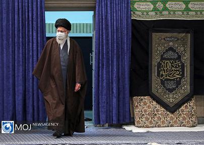 عزاداری شهادت امام رضا (ع) با حضور مقام معظم رهبری