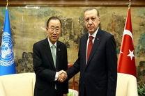 دیدار رئیس جمهور ترکیه و دبیر کل سازمان ملل