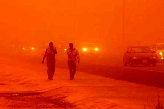 گرد و خاک در حال عبور از عراق به خوزستان است