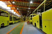 تولید اتوبوس در بهمن ماه کاهش یافت
