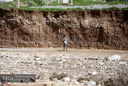 روستاهای سیل زده منطقه پلدختر