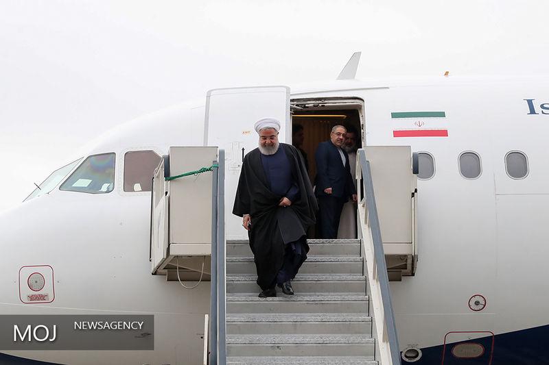روحانی وارد استان البرز شد