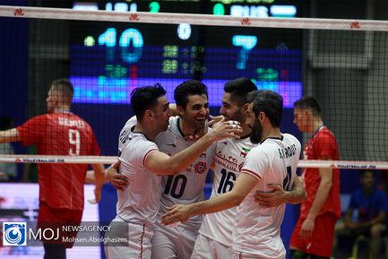 دیدار تیم های ملی والیبال ایران و روسیه