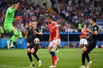 نتیجه بازی کرواسی و روسیه در جام جهانی/ صعود کرواسی به نیمه نهایی