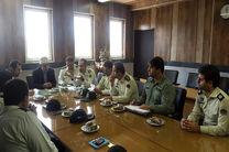 برگزاری جلسه فرماندهان یگان های حفاظت در محل فرماندهی انتظامی استان گیلان