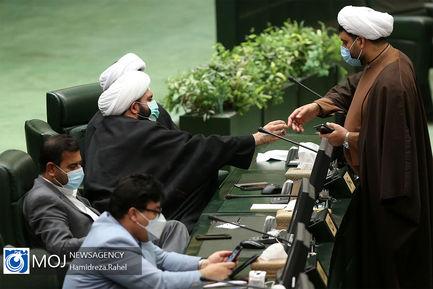 صحن علنی مجلس شورای اسلامی با حضور وزیر راه