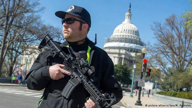 تیراندازی در نزدیکی دیوار شمالی کاخ سفید