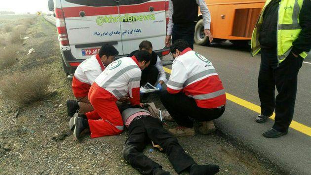 حادثه رانندگی در محور نیشابور – مشهد 2 قربانی گرفت