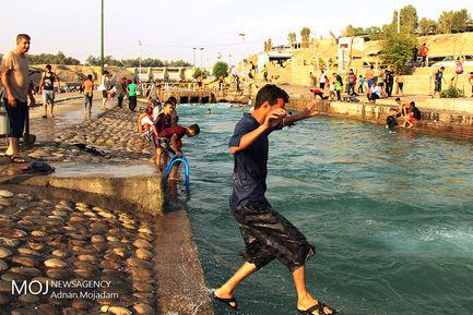فرار از گرمای خوزستان