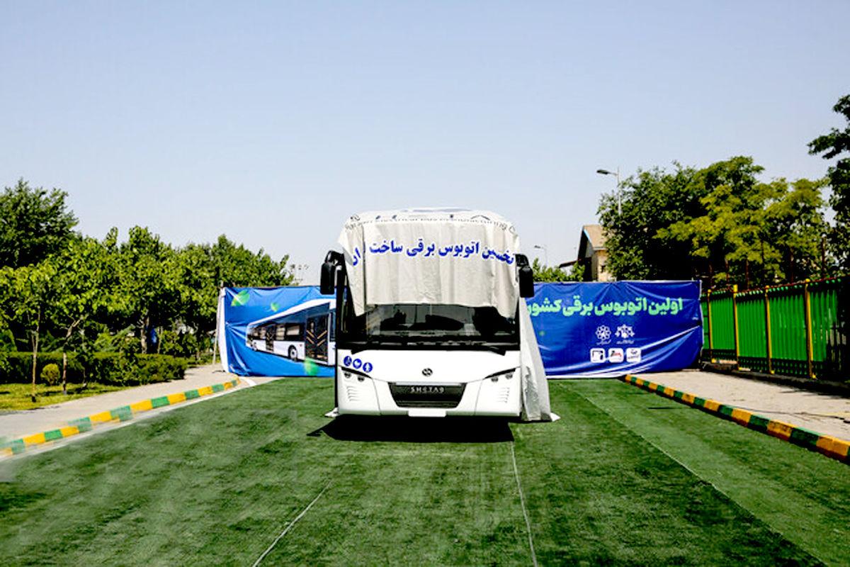 رونمایی از اولین اتوبوس برقی کشور در مشهد
