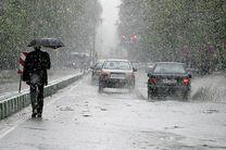 بارش برف در ارتفاعات محور کندوان