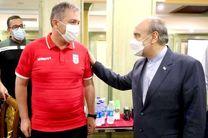 حضور وزیر ورزش و جوانان در جمع تیم ملی فوتبال روحیه بخش است