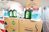 کشف بیش از 3 هزار ژل ضد عفونی احتکار شده  در نجف آباد