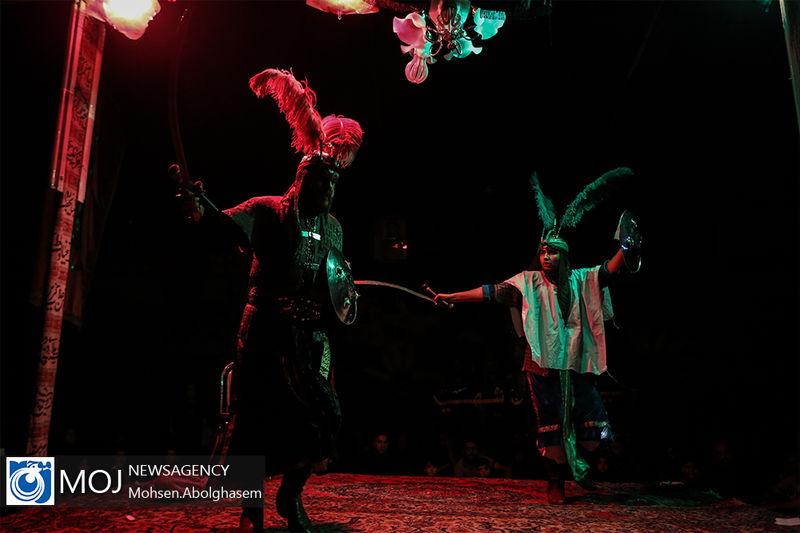 اجرای مراسم تعزیه خوانی روز اربعین در میبد